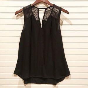 Lacy Black Blouse